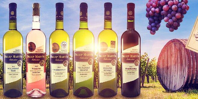 6 x fľaša vína zo Sklepu Maryša