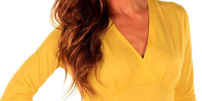 Dámsky žltý top s dlhými rukávmi Trussardi