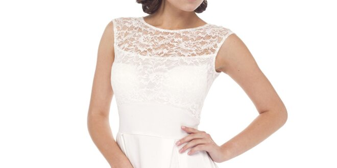 Dámske biele šaty s čipkou Arefeva  6f0caaf5ca1