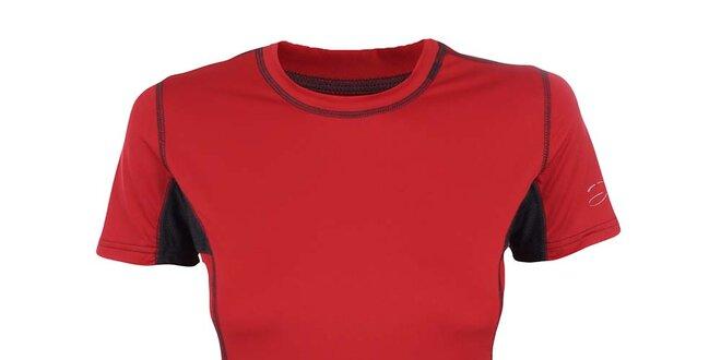 Dámske červeno-čierne funkčné tričko Hannah