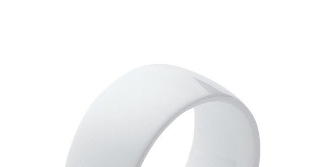Dámsky biely keramický prsteň Fifi Ange