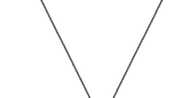 Dámska čierna retiazka so vzorovaným príveskom Fifi Ange