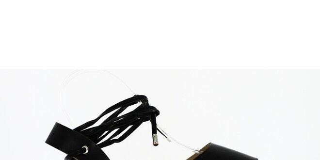 1c6daa73f Dámske čierne sandále so šnúrkou Shoes and the City | Zlavomat.sk