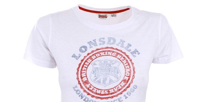 Dámske biele tričko s vintage potlačou Lonsdale  eb09714319c