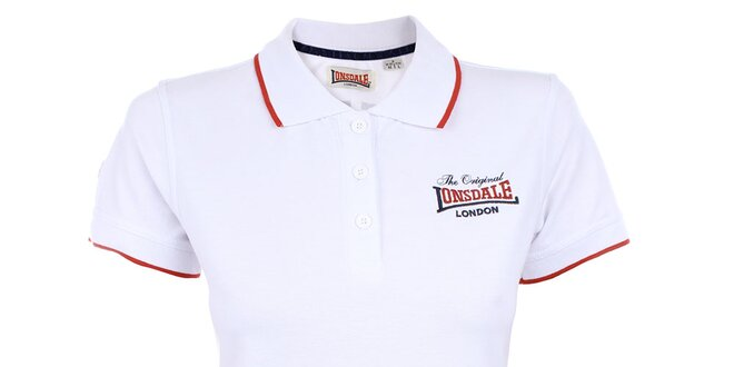 14d363a507f3 Dámske biele polo tričko Lonsdale