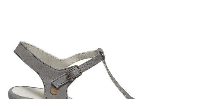 Dámske šedé sandále s prackami Buggy