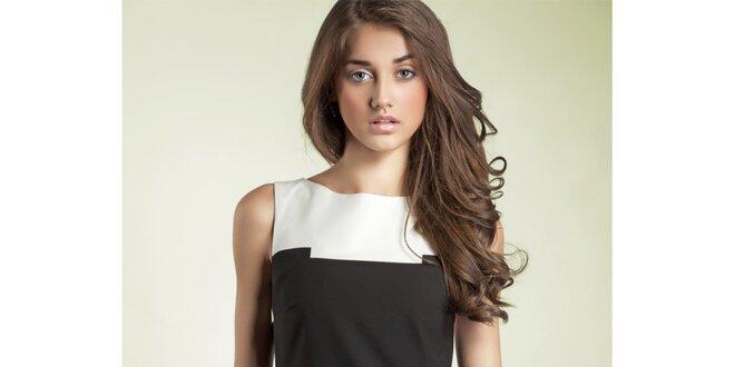 Dámske čierno-biele púzdrové šaty Nife  835410fc5d5