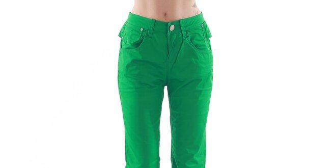 a49b98b116b6 Dámske rovné zelené nohavice Fornarina