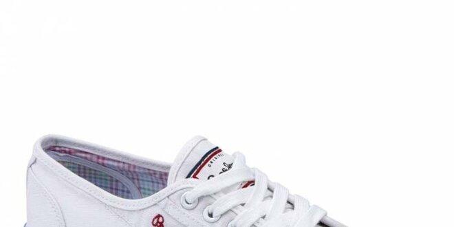1b87407d01 Dámske biele tenisky Pepe Jeans