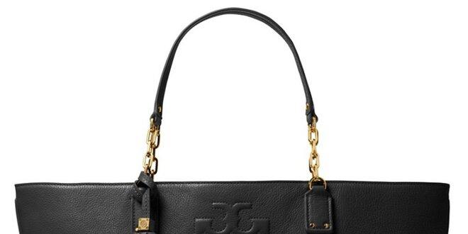 Dámska čierna kožená kabelka so strapcom Tory Burch  ade09f99670