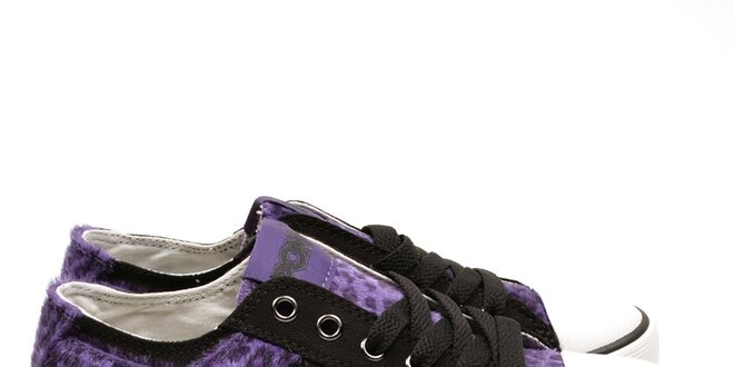 Dámske čierne tenisky s leopardím vzorom Pony  b999003689a