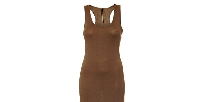 Dámske hnedošedé dlhé šaty Liza Too