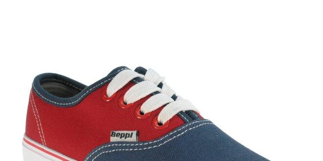 8cade3c7bca4 Detské červeno-modré tenisky Beppi