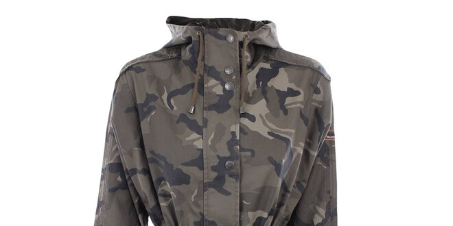 Dámska maskáčová bunda s kapucňou Halifax
