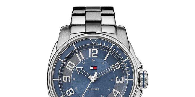 Dámske oceľové hodinky s modrým ciferníkom Tommy Hilfiger  69da10d450c