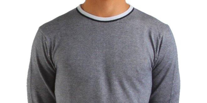 3b5a2c140b Pánsky šedý sveter Calvin Klein