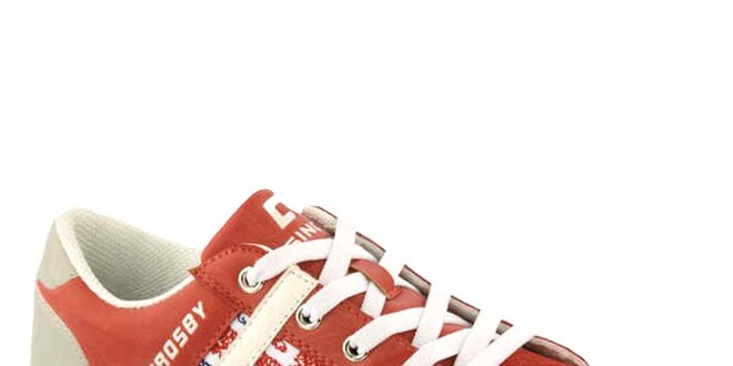 Dámske červené tenisky s vlajkou Crosby