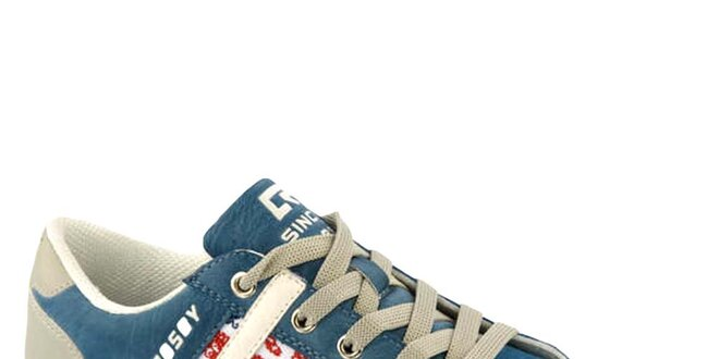 Dámske modré tenisky s vlajkou Crosby
