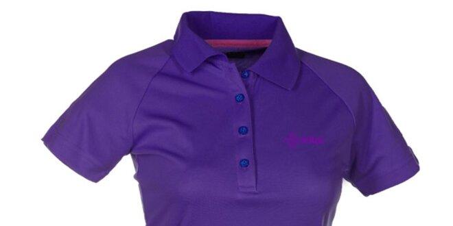 Dámske fialové technické polo tričko Kilpi