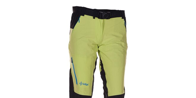 Dámske zeleno-čierne outdoorové nohavice Kilpi