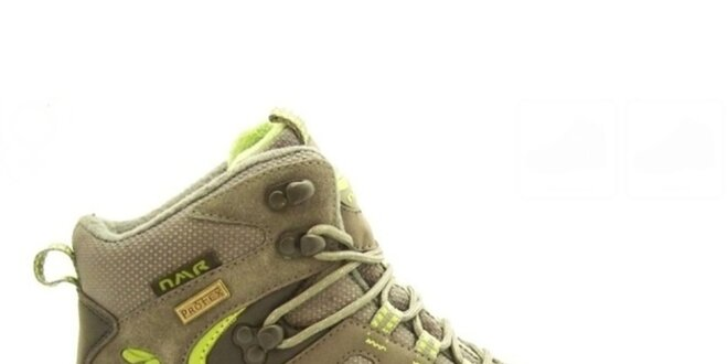6ce00ecbdf Dámske khaki trekové topánky Numero Uno