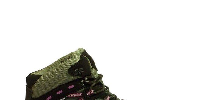 Dámske trekové členkové topánky s ružovým motívom Numero Uno