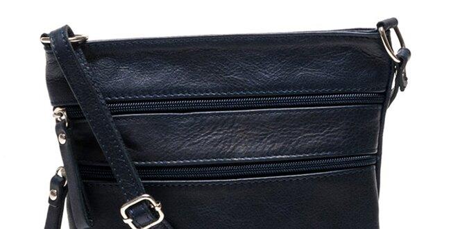 Dámska tmavo modrá kožená kabelka Luisa Vannini  bc30ec70dbf