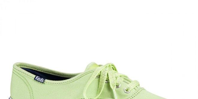 Dámske zelenožlté tenisky Keds