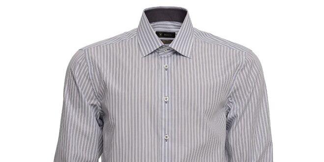 Pánska šedo prúžkovaná košeľa Brazzi