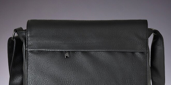 Pánska čierna taška cez rameno Verso