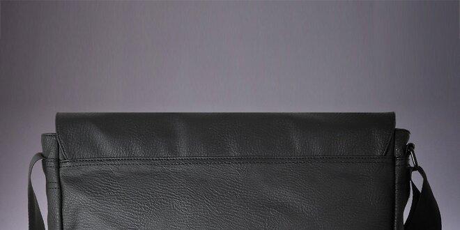 Pánska čierna messenger taška cez rameno Verso