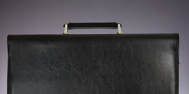 Pánska čierna aktovka s vnútornými priehradkami Verso