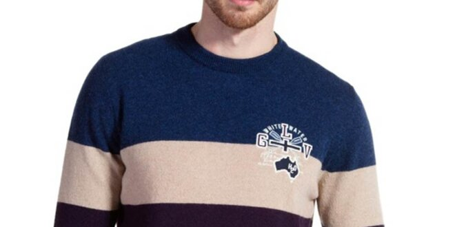 Pánsky farebne pruhovaný sveter Galvanni