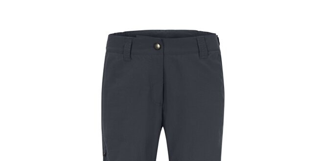 Dámske tmavo šedé 3/4 funkčné nohavice Maier