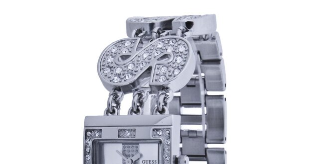 0e4fc6b0f Dámske strieborné náramkové hodinky Guess | Zlavomat.sk
