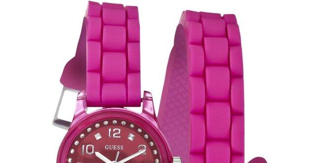 Dámske ružové hodinky Guess  a44b8758194