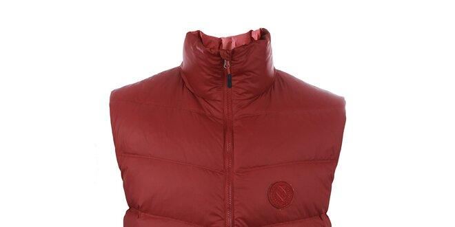 Pánska tmavo červená páperová vesta Trimm