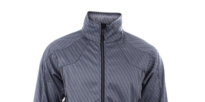 Pánska šedá bunda s potlačou loga Trimm