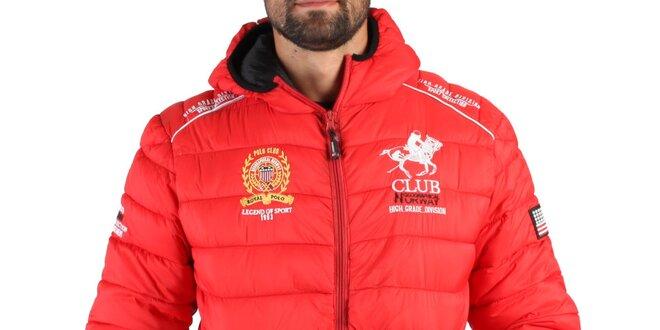 Pánska červená zimná prešívaná bunda Geographical Norway  e3bba5f2730