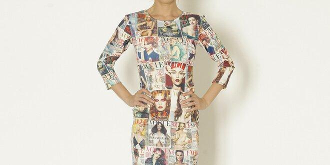 8abfb384b184 Dámske šaty s potlačou magazínu Chaser