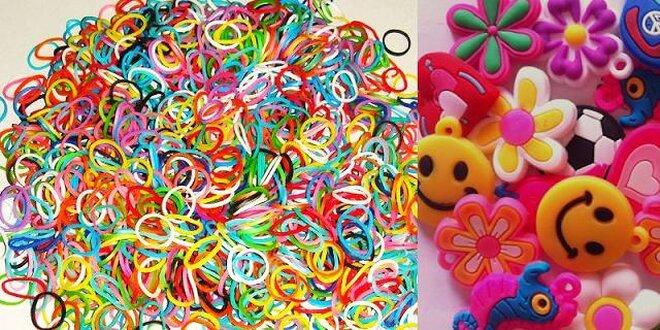 Farebné gumičky + prívesky na dúhové náramky