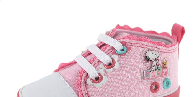 071cc4387 Detské ružové bodkované tenisky Beppi | Zlavomat.sk