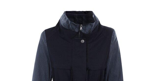 Dámska bunda s modrými rukávmi Halifax