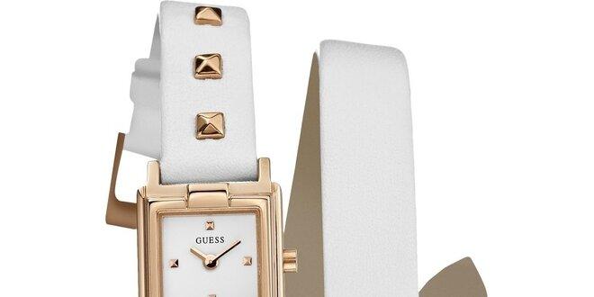 9978067cd Dámske zlaté hodinky Guess s bielym remienkom | Zlavomat.sk