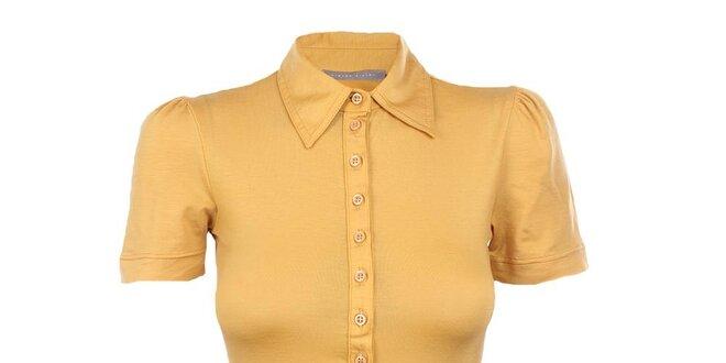 Dámske žlté tričko s límčekom Pietro Filipi