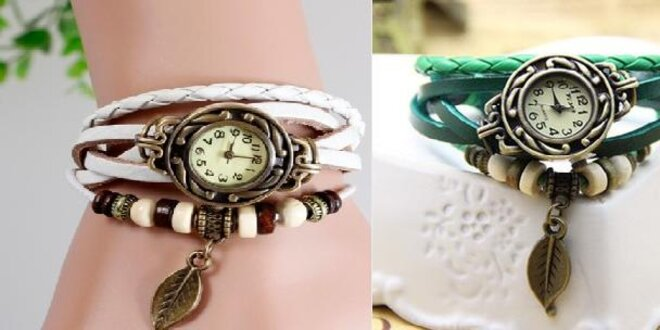 Retro dámske náramkové hodinky v 6 farebných prevedeniach