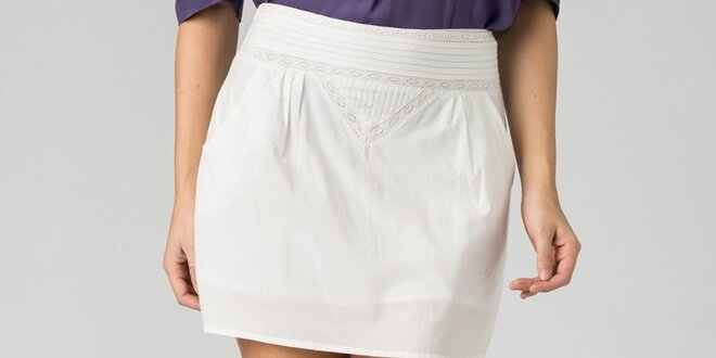 Dámska biela mini sukňa By Zoé