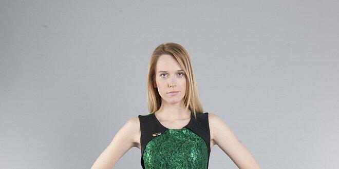 62dbbf94e88 Dámske smaragdové čipkové šaty Via Bellucci