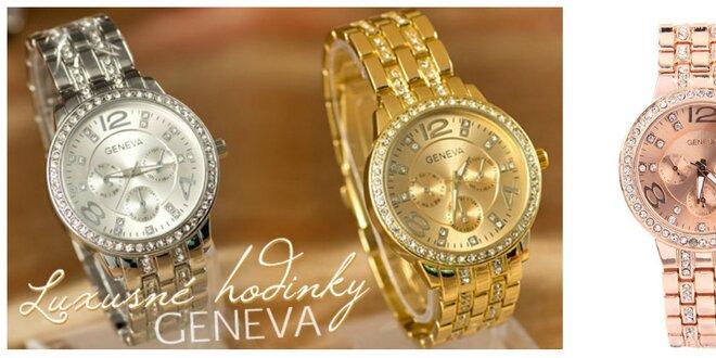 Luxusné dámske hodinky s kryštálmi Swarovski Elements v 3 farbách