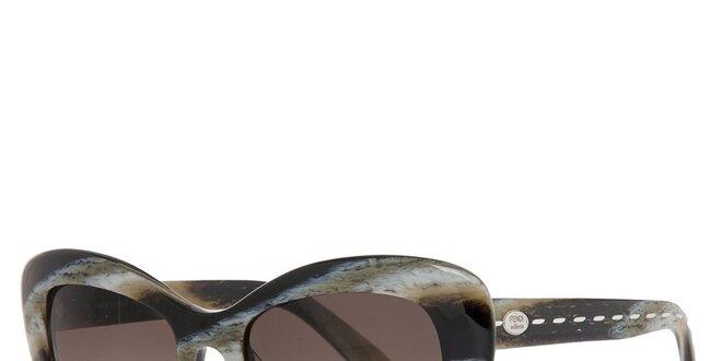 f7703bfad Dámske čierno šedé slnečné okuliare fendi s marmorovanou strukturou ...
